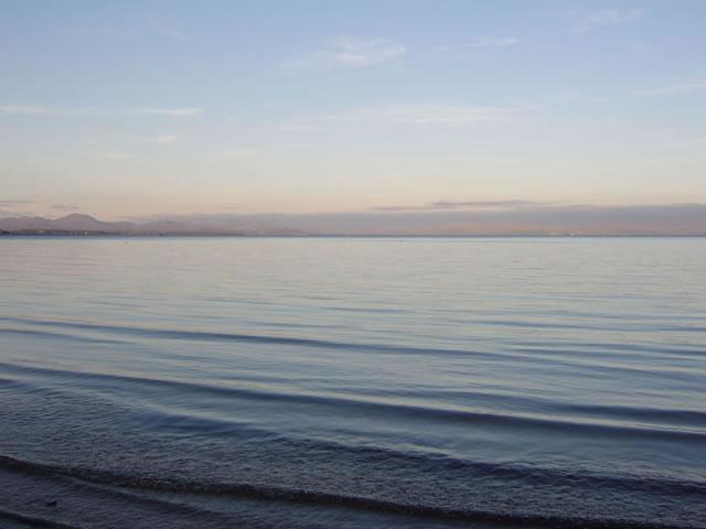 Dusk at Llanbedrog beach